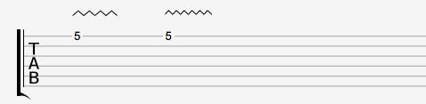 Notation vibrato tablature guitare