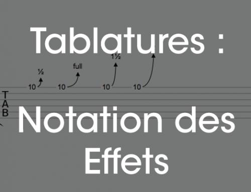 Tablature : notation des effets et techniques de jeu