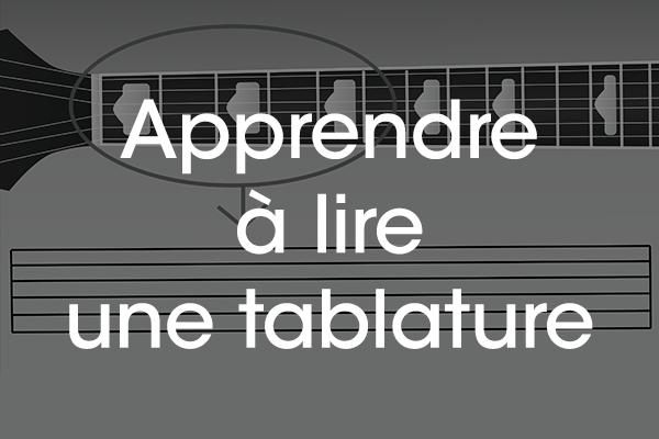 apprendre à lire une tablature guitare débutant