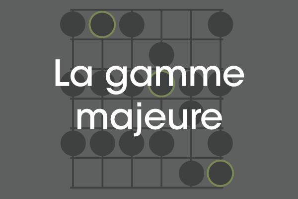 Apprendre la gamme majeure guitare débutant