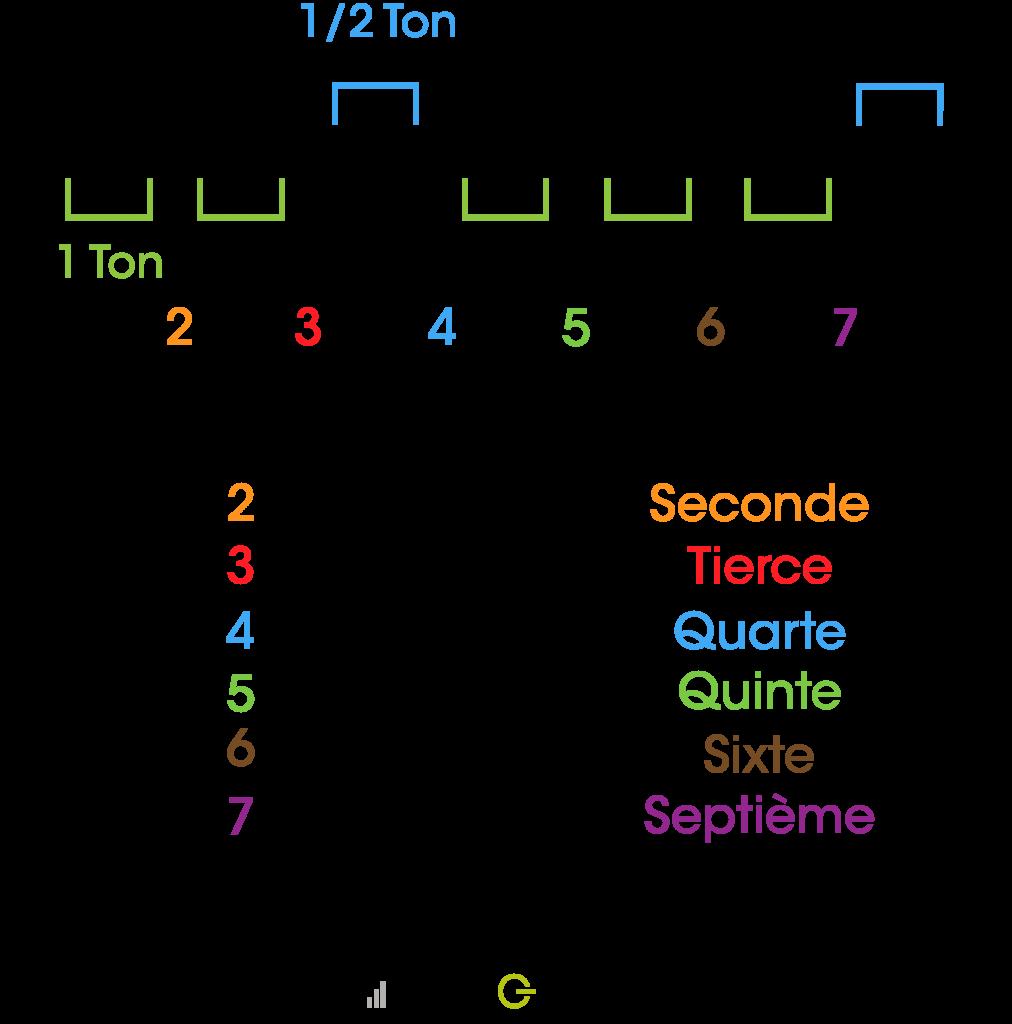 Modèle de la gamme de Do majeur - guitare débutant