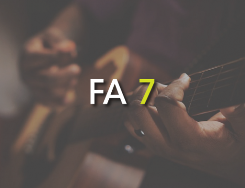 Les accords de guitare : Fa 7 (  F7 )