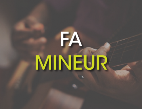 Les accords de guitare : Fa Mineur ( Fm )