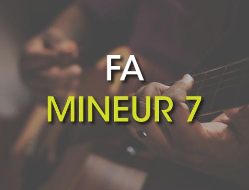 Les accords de guitare : Fa Mineur 7 ( Fm7 )