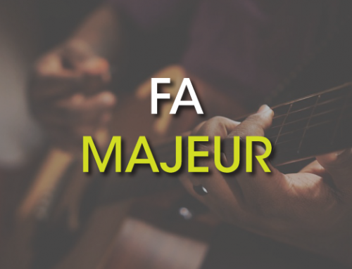 Les accords de guitare : Fa Majeur ( F )