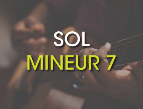 Les accords de guitare : Sol Mineur 7 ( Gm7 )
