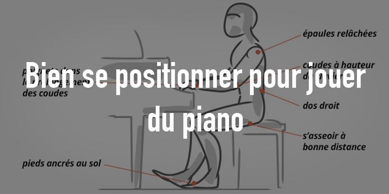 Bonne position pour jouer du piano